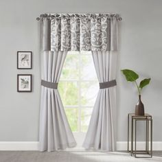 Commonwealth Home Fashions Trellis 63 Inch Grommet Top Tie Up Window Curtain  Panel   BedBathandBeyond.com | French Country Kitchen | Pinterest | Window  ...