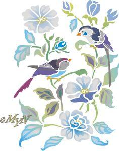 Птички на цветках