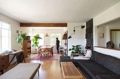 Momo Suzuki and Alexander Yamaguchi of fashion line Black Crane at home in LA | Remodelista couch - Vlesso