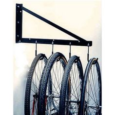 An innovative and inexpensive solution to maximizes your garage storage space. Made of high-quality materials, very sturdy and can easily holds the weight of a bicycle, yard equipment, tools or any other items that is stored in a garage. Plan Garage, Garage Shed, Garage Walls, Garage House, Garage Workshop, Garage Closet, Garage Bathroom, Garage Room, Garage Flooring