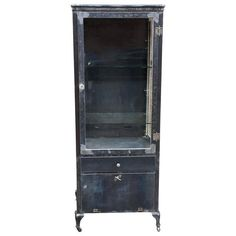 Industrial Brushed Steel And Beveled Glass Apothecary Display Cabinet | Antiques, Furniture, Cabinets & Cupboards | eBay!