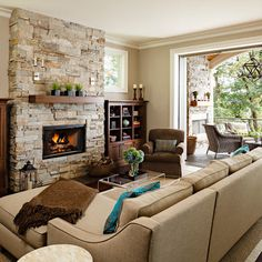 Living Room paint color in room with wood trim Design Ideas, Pictures, Remodel and Decor