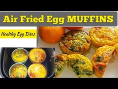 QUICK EGG MUFFINS RECIPE IN AIR FRYER. HOW TO MAKE Air Fried EGG CUPS. Air Fry Egg Bites. Healthy - YouTube