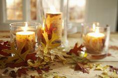 Candlelight & fall foliage. #AGPinGiving