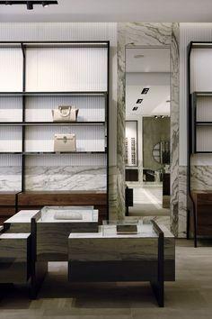 Study of architecture, planning and Interior Design Fabio Fantolino Turin Retail Interior Design, Retail Store Design, Retail Shop, Retail Displays, Shop Displays, Merchandising Displays, Window Displays, Cool Retail, Retail Architecture