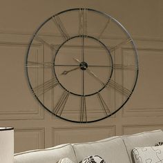 "Howard Miller® Oversized 49"" Postema Wall Clock"