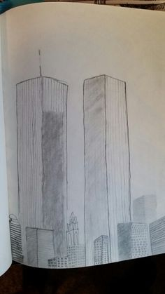 Twin Towers Drawing Google Search Don T Forget The Day
