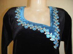 Chudi Neck Designs, Dress Neck Designs, Sleeve Designs, Saree Jackets, Kurta Neck Design, Kurti Neck, Beautiful Suit, Muslim Fashion, Neck Pattern