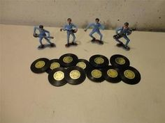 vintage 1960's Wilton THE BEATLES Cake Toppers Party-A-Go-Go (11) records
