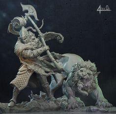 White Lion of Chrace, Alex Oz Warhammer Dwarfs, Warhammer 40k, Warhammer Tabletop, High Elf, Fantasy Battle, Lion Art, D D Characters, Warhammer Fantasy, Fantastic Art