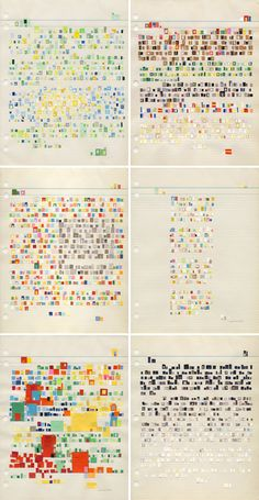 'Letter Collages' are by Boston based, Spanish artist Catalina Viejo Lopez de Roda. Each one is a letter that conveys the artist's emotions to a particular person or subject, but instead of using the written word she has hand cut and collaged tiny snippets of paper to illustrate her thoughts.