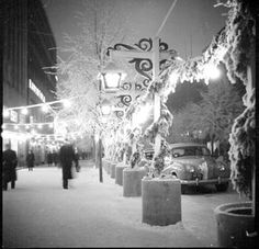 Joulukatu 1953. Kyttälä. Valokuvaaja: Kangas Jussi Vapriikin kuva-arkisto.