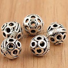 Gratis verzending!!! Thailand sterling zilveren kralen, tibetaanse sieraden, lantaarn, holle, 8mm, gat: ca. 1 mm, 10pcs/bag, verkocht door zak(China (Mainland))