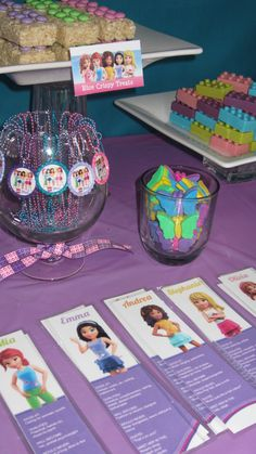 Lego Friends party table  #legofriends #birthday #party