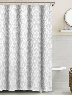 Martina Ikat Shower Curtain by Duck River at Gilt