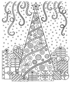 Christmas Coloring Pages and some fun Christmas jokes! Merry Christmas Coloring Pages, Christmas Coloring Sheets, Easter Coloring Pages, Christmas Doodles, Mandala Coloring Pages, Christmas Drawing, Coloring Book Pages, Coloring Pages For Kids, Printable Coloring Pages