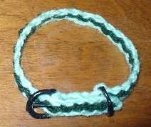 I have yet to do this, but plan on it. I would not use it for my dog's leash as she is too strong.  But I am going to make her a decorative additional to her actual collar.