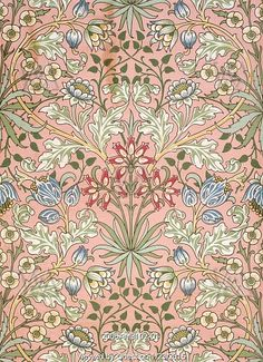 Hyacinth wallpaper, by William Morris. England, 19th century