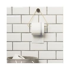 FREE UK shipping over This stylish brass triangle toilet paper roll holder by Ferm Living will transform your bathroom. UK / London stockist of Ferm Living. Danish brand Ferm Living have a beautiful range Brass Toilet Paper Holder, Toilet Paper Dispenser, Bathroom Design Small, Modern Bathroom, Bathroom Gray, Modern Toilet, Stone Bathroom, Loo Roll Holders, Paper Holders