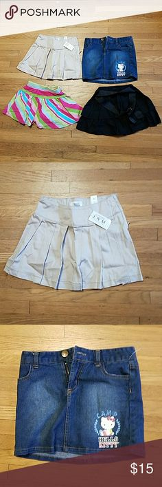 Size 4 Bundle of Girls Skirts lot # 4SK001 Bundle of 4 girls skirts size 4. Bundle includes Children's Place, Gymboree  and Hello Kitty brands. Lot #4SK001 Bottoms Skirts