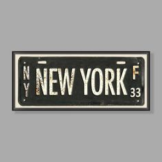 Inspire your walls with Big Apple charm! Our New York Framed Art features an antique New York vanity license plate, complete with old-world rust markings. A nod to city living, this piece complements many styles from shabby chic to modern cool. Teen Wall Art, Cool Wall Art, New York Decor, New York Bedroom, Vintage Mason Jars, Mason Jar Bathroom, A Frame Cabin, Shabby Chic Bedrooms, Pottery Barn Teen