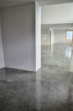 simple waxed concrete floors - Google Search: