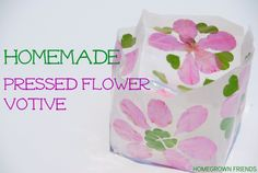 Homemade Pressed Flower Votive