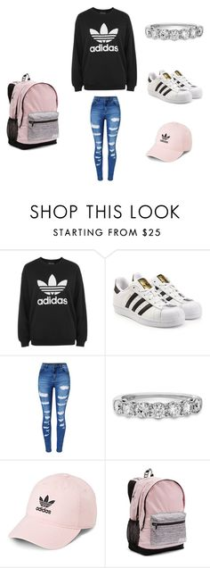 """""""way to wear adidas clothes"""" by pa6739 on Polyvore featuring adidas, adidas Originals, WithChic and Victoria's Secret"""