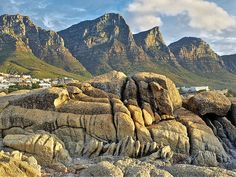 The Twelve Apostles mountains, Western Cape.