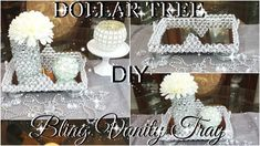 DOLLAR TREE DIY BLINGED OUT VANITY TRAY COLLABORATION WITH SO FASHION PLUS | PETALISBLESS????