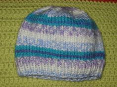 This hat should fit a newborn baby just about perfectly. I found a hat my son wore when he was first born and made this hat to be the ex...