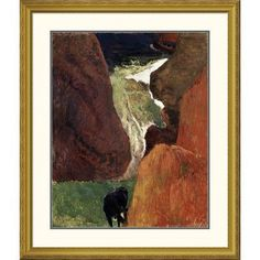Global Gallery 'Above the Abyss Au Dessus du Gouffre' by Paul Gauguin Framed Painting Print Size: