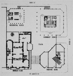 UK, London, Economist building. Architect Alison and Peter Smithson, 1964.