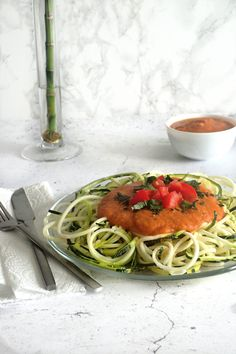 My Sweet Faery - spaghetti de courgettes sauce lentilles tex mex - Zucchini spag hetti with a lentil tex mex sauce