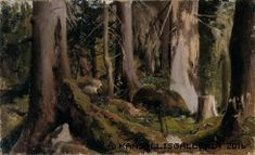 Fanny Churberg (Finnish, 1845 - Forest (via Finnish National Gallery) Helene Schjerfbeck, Watercolor Landscape, Landscape Paintings, Tree Paintings, Prinz Eugen, Nordic Art, Canadian Art, Cool Landscapes, Nocturne