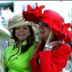 Kentucky Derby fashion.