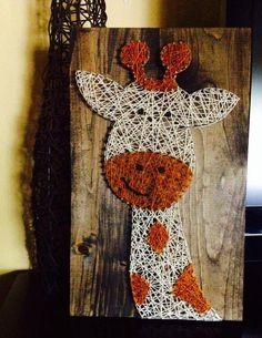 String Art  String Art Giraffe  Giraffe Nursery door NailedItDesign