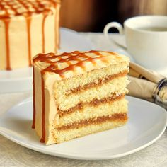 The Best Caramel Cake - a new follower on Rock Recipes asked if we had a great caramel cake recipe. Boy, do we ever! A moist vanilla cake gets filled with layers of homemade caramel sauce, then covered in a caramel buttercream frosting and drizzled with a little more caramel sauce.