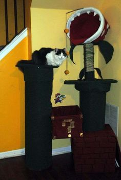 This Cat Tree by Geckoo_Design is Inspired by a Mario Environment #Pets #petfurniture trendhunter.com