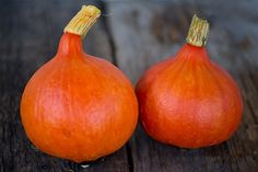 Japanese HEIRLOOM Also known as Orange Hokkaido. Fruits are small and shaped like an upside down heart, 4 to 7 pounds as a rule. The color is a bright orangish red so it also has decorative uses. The