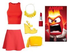 """Inside out inspired outfit:Anger"" by katiebelle1102 on Polyvore"