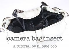 camera bag insert tutorial- I've made this and I love carrying my camera in a cute purse and not an ugly camera bag!