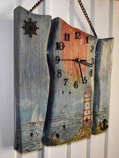 Работа Лилии Юнусовой Clock Art, Diy Clock, Wooden Wall Art, Wood Art, Arte Pallet, Pallet Clock, Wood Shop Projects, Wood Clocks, Recycled Furniture