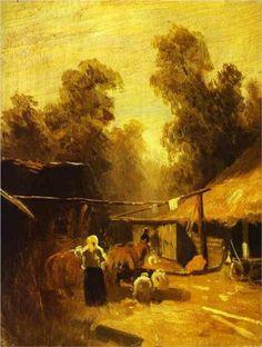 Morning in a Village - Fyodor Vasilyev