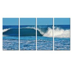 Ready2hangart Chris Doherty 'Ocean Motion' 4-piece Canvas Wall Art - Overstock™ Shopping - Top Rated Ready2hangart Canvas
