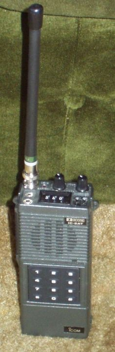 Icom IC-2AT Two Meter Synthesized FM Amateur Radio Portable HT Transceiver.