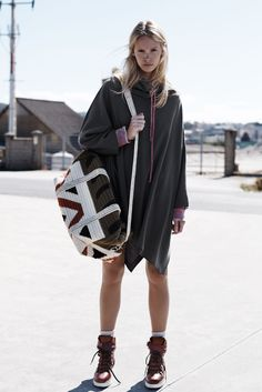 loose cape and boots with socks... everything about this would be unflattering on me, yet i still want it all! zara fall14