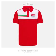 2017 Ducati Corse Official Team Men/'s T-Shirt in Red MotoGP Desmo GP Racing Bike