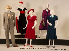 "Aug 1, 2016: FIDM Facebook """"Agent Carter"" costumes by Costume Designer, Giovanna Ottobre-Melton. These costumes can be seen in the 10th annual ""Art of Television Costume Design"" exhibition in the FIDM Museum at the Fashion Institute of Design & Merchandising, Los Angeles. The exhibition is free to the public and runs Tuesday, Aug. 2 through Saturday, Oct. 15, 2016, 10:00 a.m.-5:00 p.m.; closed Sunday/Monday."" https://www.facebook.com/FIDMMuseum/"