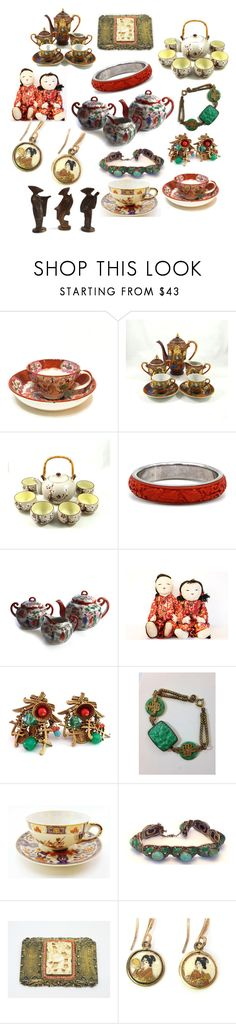 """""""Asian Collectibles and Jewelry"""" by patack ❤ liked on Polyvore featuring OMC and vintage"""